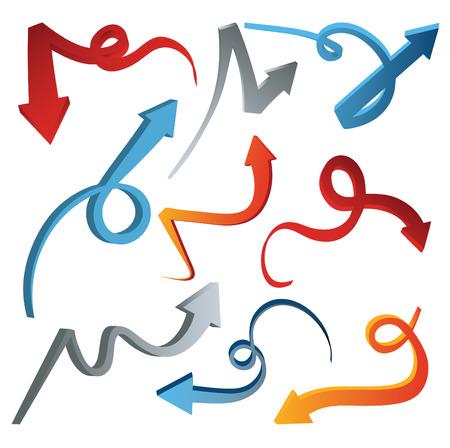 diminishing point: 3D arrow set