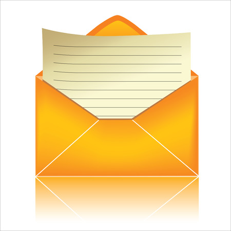 send mail: E-mail icon, orange #3