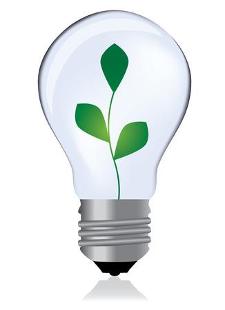 Light bulb whit plant Vector