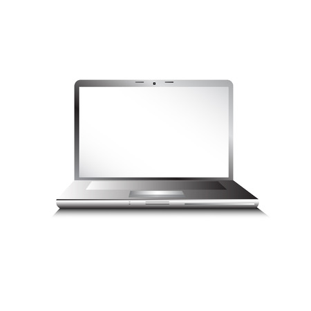 laptop with empty space for your text - vector illustratio Illustration