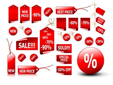 tu puedes: gran conjunto de etiquetas de precios del vector - usted puede utilizarlo para cualquier venta o temporadas de tiempo