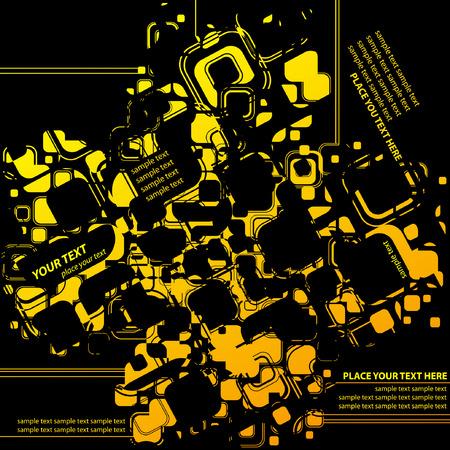 hi-tech modern industrial grunge Stock Vector - 4231582
