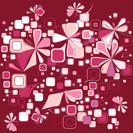 abstract vintage wrapping pattern for valentines day Illustration