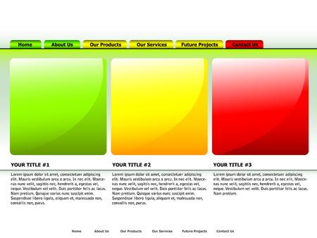 clean website vector design template Stock Vector - 4376395