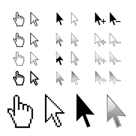Cursors, arrows in vector Ilustrace