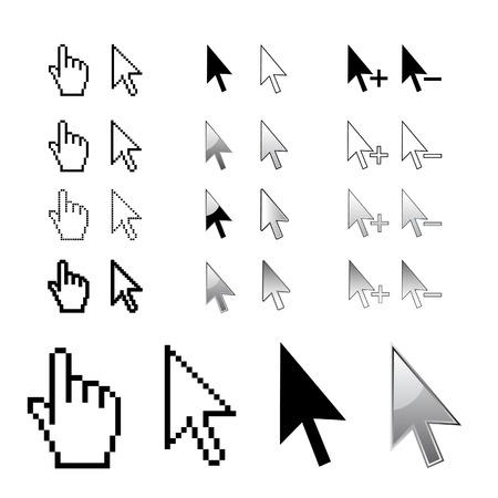 Cursors, arrows in vector Illustration
