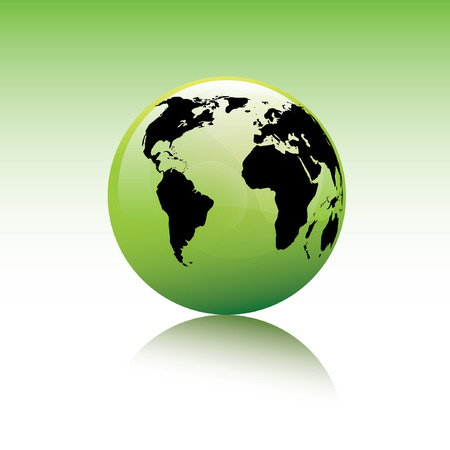 shiny vector earth globe