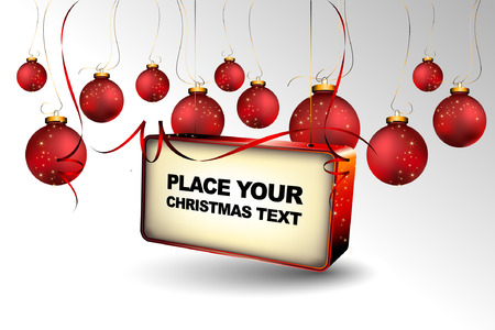 Christmas Background with Billboard for your Text