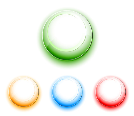 Clean Push Buttons Stock Vector - 5971842