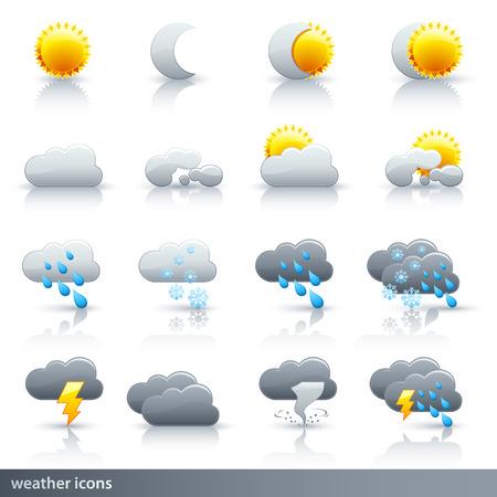 Weather Vector Icon Set - Meteorology Illustration
