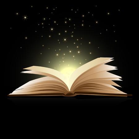 Libro abierto magia - concepto de educación