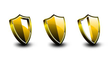 Golden Vector Armor Shield Stock Vector - 6703732