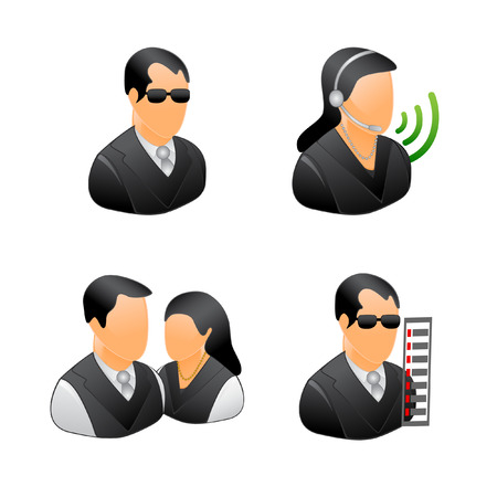 user icon: business people vector icons  Illustration