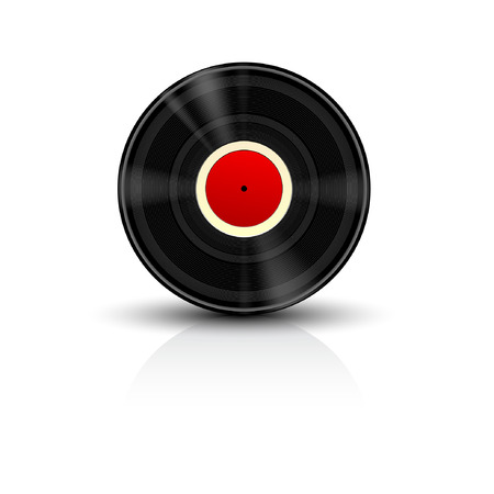 Detailed Vector Vinyl Record Icon  Vector
