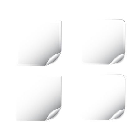 blank paper labels vector stickers  Vector