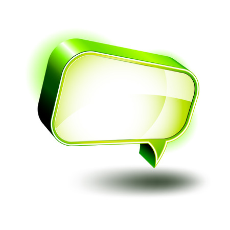 3D Icons: Glossy Chat Box  Illustration
