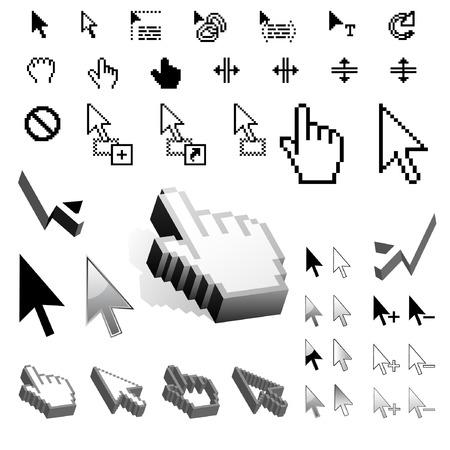 http: Gr��te Satz von Vektor-Cursor-Symbole