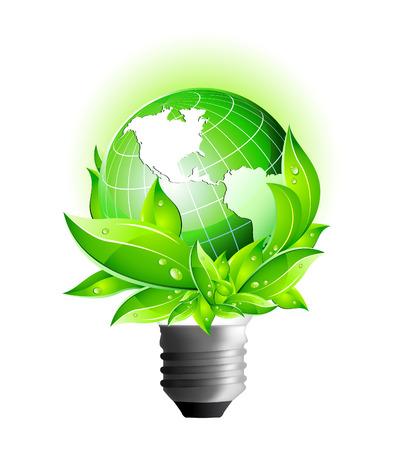 3D Vector Icons: Environmental Eco Earth Globe  Vector