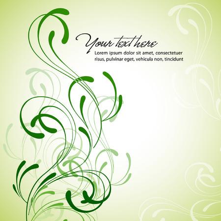 Sauber floral background