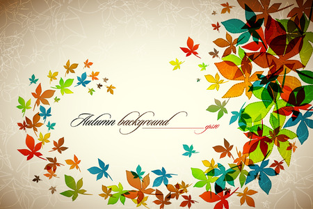 Autumn Background | Falling Leafs | EPS10 Compatibility Required 版權商用圖片 - 8091318