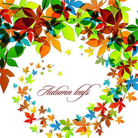 Autumn Background | Falling Leafs | EPS10 Compatibility Required 向量圖像
