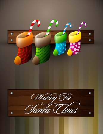 stockings: Waiting For Santa Claus | Christmas Family Concept