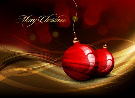 Christmas Card | Shiny Golden Decoration Stock Vector - 8344259