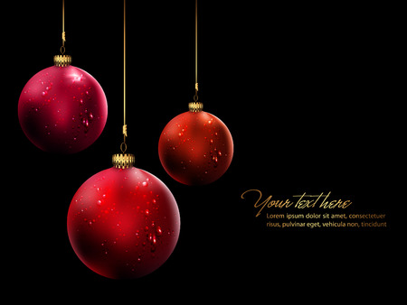 Christmas Balls with Shiny Water Drops  Illustration