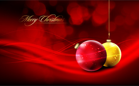 Christmas Card | Deep Red Background
