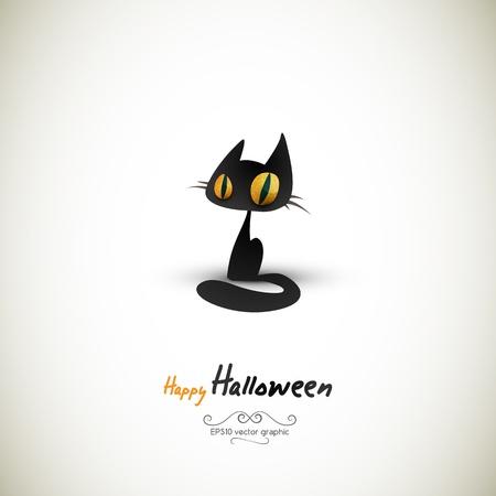 separato: Halloween Cat | EPS10 Grafica | livelli separati Named conseguenza Vettoriali