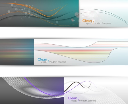 Clean Modern EPS10 Banners with high contrast field separation   960px wide each   Everything Separated on Layers Named Accordingly