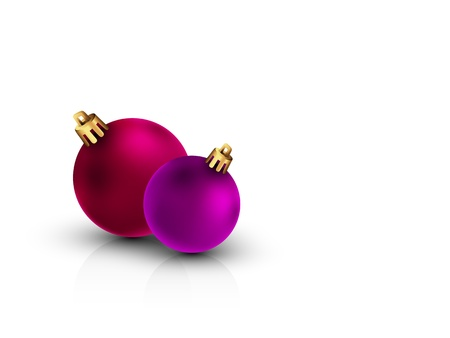 be the change: 3D Christmas Balls on Clean White Background | Color of the balls can be change with 1 click | Separate Layers Named Accordingly Illustration