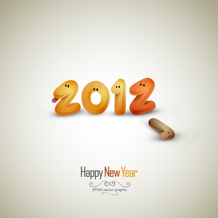 New Years Greeting Card | EPS10 Vector Background Vector