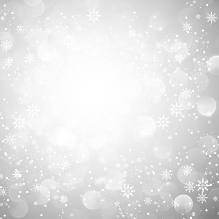 Silver Snowflake Christmas Background | EPS10 Vector Graphic