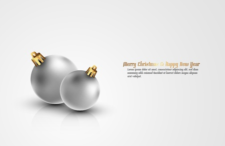 be the change: Clean Christmas Background with Large Space for Text | Color of the balls can be change with 1 click | Separate Layers Named Accordingly Illustration