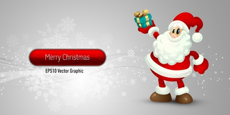 Christmas Banner with Santa Claus  EPS10 Vector Background   Layers Organized and Named Vector
