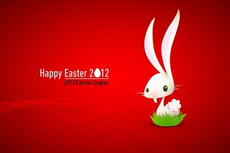 flappers: El conejo blanco | conejo | Pascua | Ilustración capas organizadas y con nombre tanto
