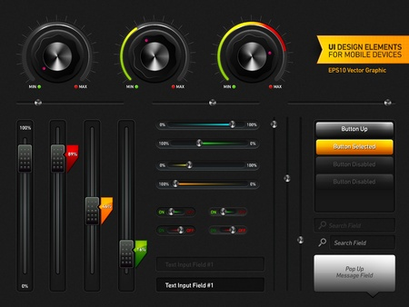 User Interface Design Elements   EPS10 Vector Graphic   Layers Organizes and Named 版權商用圖片 - 12873897