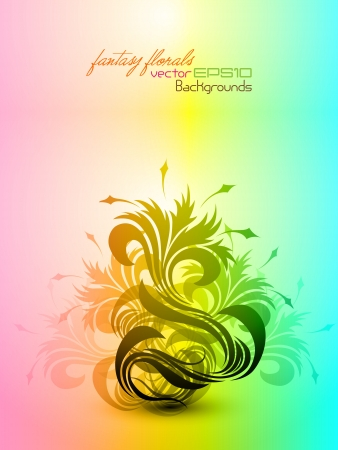 Fantasy Floral Composition   Stock Vector - 15821043