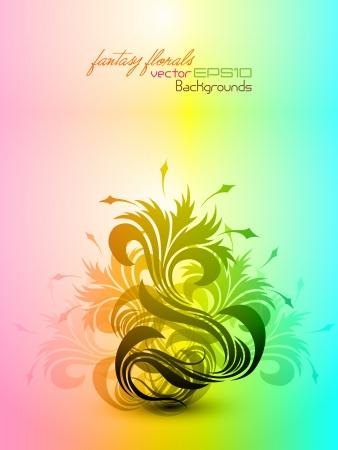Fantasy Floral Composition Stock Vector - 15821043