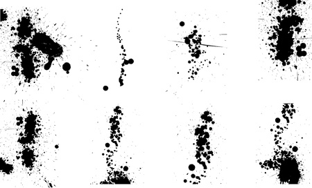 ink drops: set of ink drops   paint splash