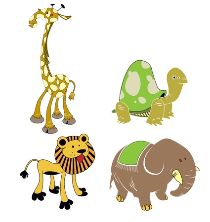 animals - safari set Vector