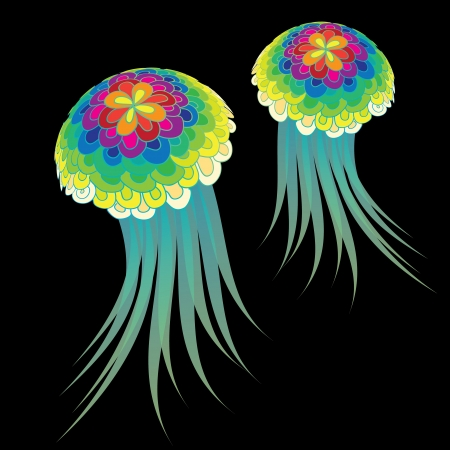Medusa   jelly fish   Stock Vector - 15863669