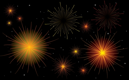 fireworks No Transparency Stock Vector - 15863582