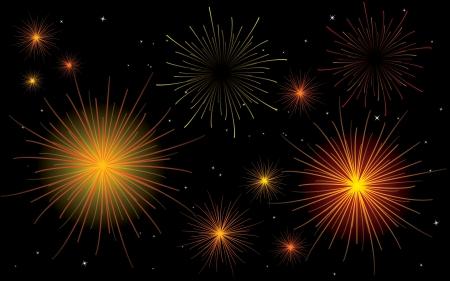 happy newyear: fireworks No Transparency