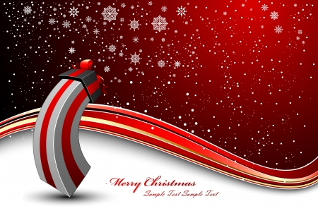season s greeting: Christmas Background With Cute Gift
