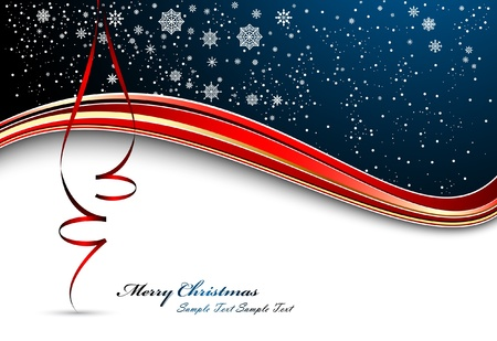 season s greeting: Christmas Background With Ribbons