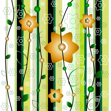 abstract seamless floral pattern Stock Vector - 15863647