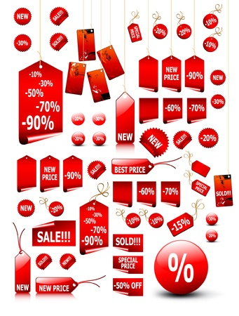 big set of price tags - you can use it for any sale time or seasons