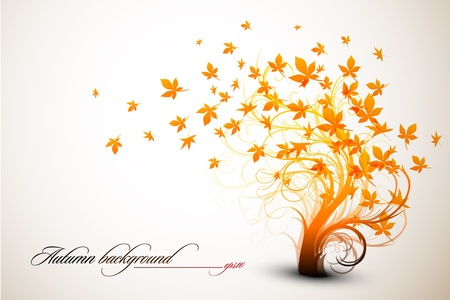 Autumn Tree   Clean Vector